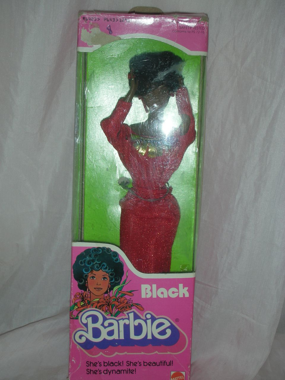 Vintage 1970s  Superstar Black Barbie Doll with Box