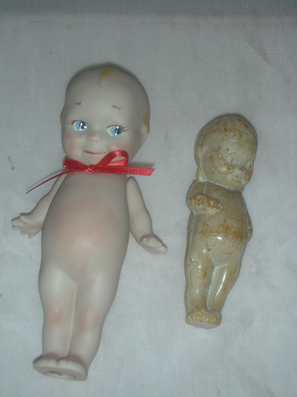 Vintage Kewpie Doll Soap and Jointed Bisque Artist Kewpie Doll