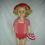 Vintage Mattel Chatty Cathy Doll in Tagged Swimsuit 1960s