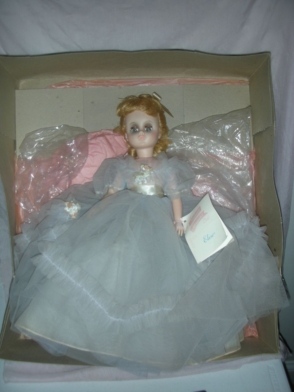 Vintage 1960s Madame Alexander Elise Doll in Box