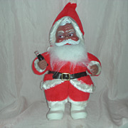 Rare Vintage Rushton Toy Corp African American Santa Claus