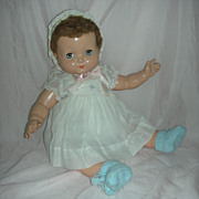Vintage Effanbee All Composition 22 Inch Sweetie Pie Doll with Flirty Eyes