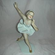 Vintage Wallendorf Porcelain Ballerina Figurine