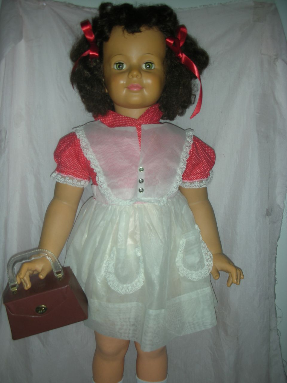 Early Dark Curly Brunette Ideal Patti Playpal Doll 1959