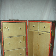 Vintage 1940s Doll Wood Steamer Trunk