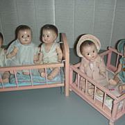 Vintage Set of Madame Alexander Dionne Quintuplet Dolls