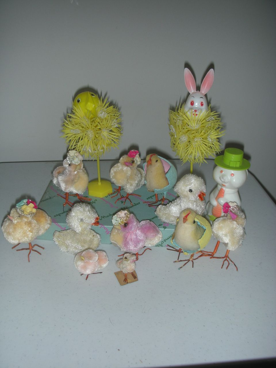 Toys Easter Magazine : Vintage easter chenile chickens with chicks toys and