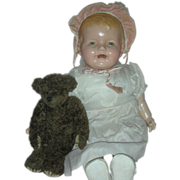 Large Vintage Composition Baby Doll Chubby Mama  Compo