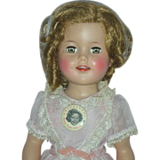Vintage High Color Ideal Shirley Temple Doll 17 Inch Vinyl