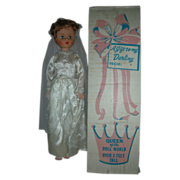 Vintage 24 inch Queen of the Doll World Bride with Box and Shipper Fashion High Heel Doll Deluxe Reading
