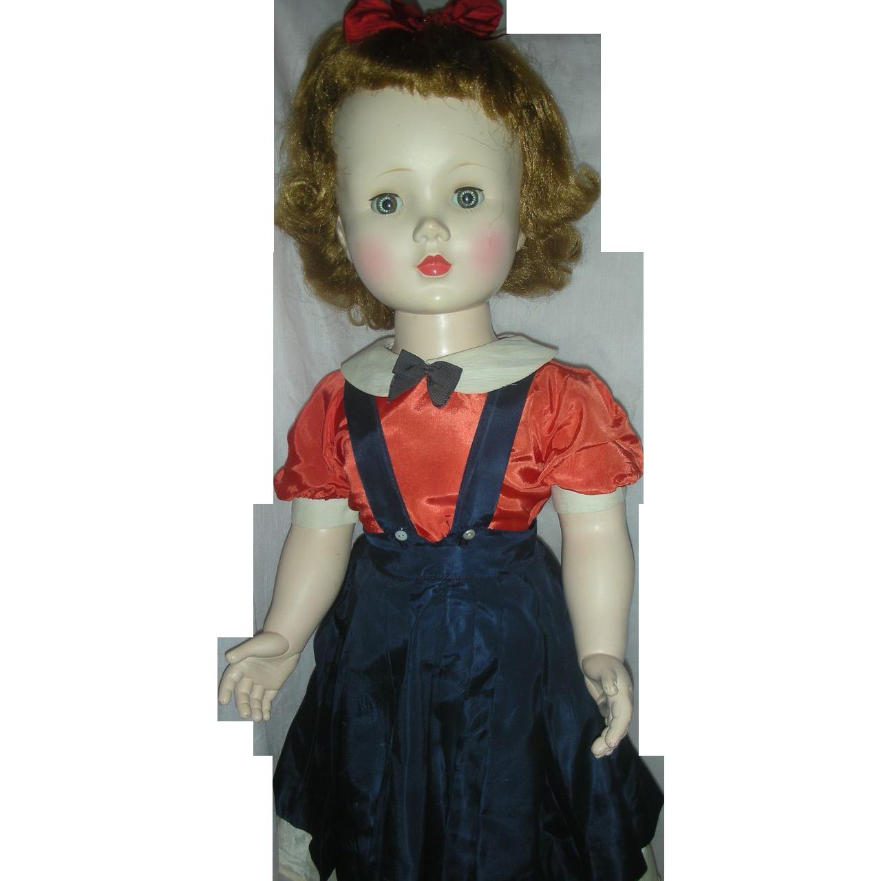 Vintage Madame Alexander Mary Ellen Walker Doll Hard Plastic Playpal size 30 inch
