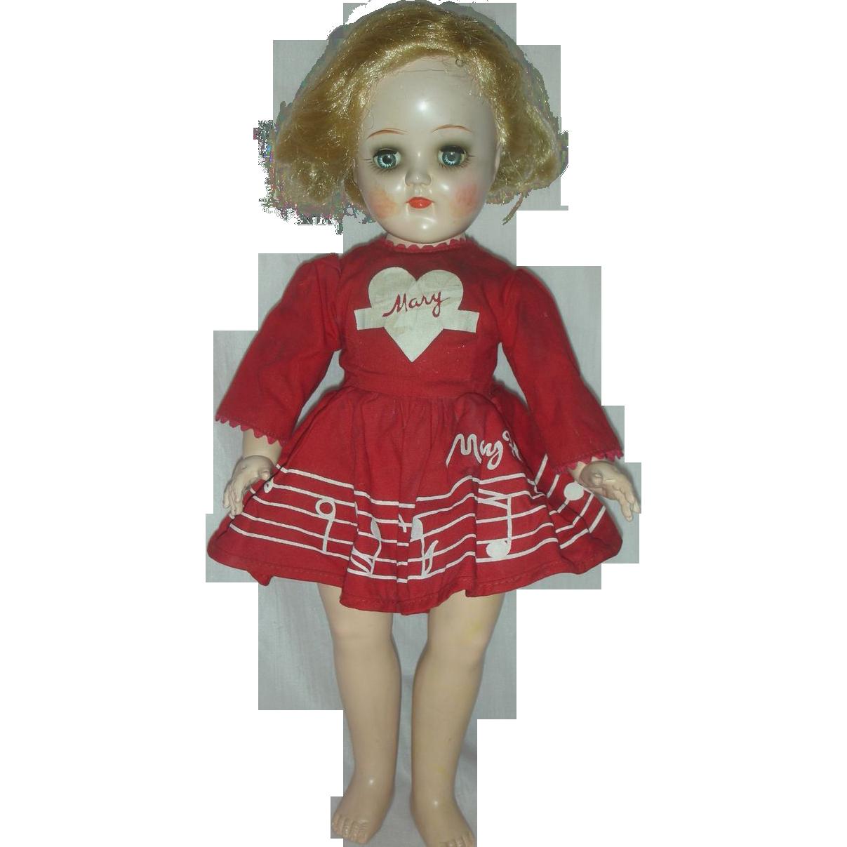Vintage IDeal Mary Hartline Doll P 91 Toni Dolls