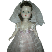 Vintage R&B Arranbee Bridesmaid Doll Hard Plastic Walker
