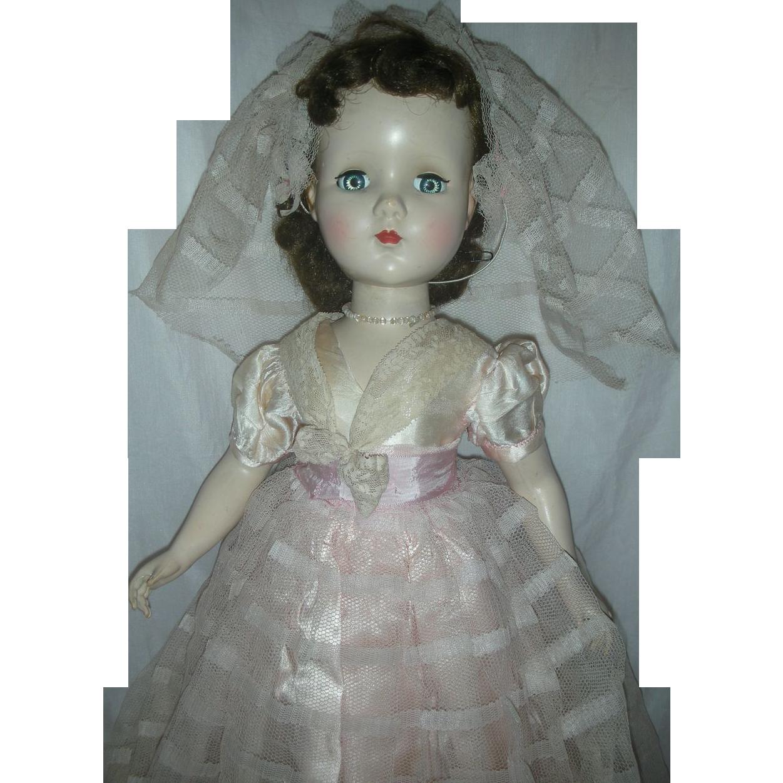 Vintage R&B Arranbee Bridesmaid Doll Hard Plastic Walker