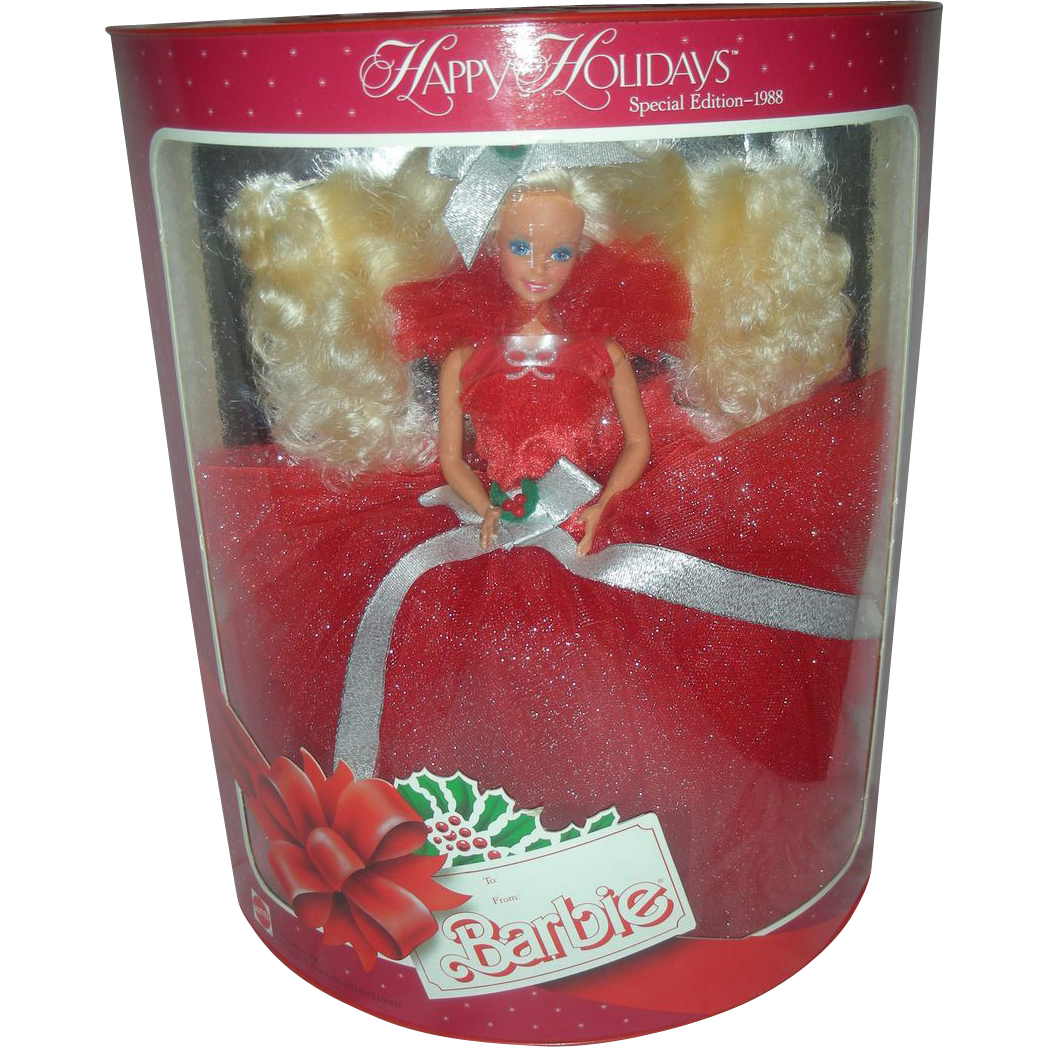 1988 Happy Holiday Christmas Barbie Doll NRFB