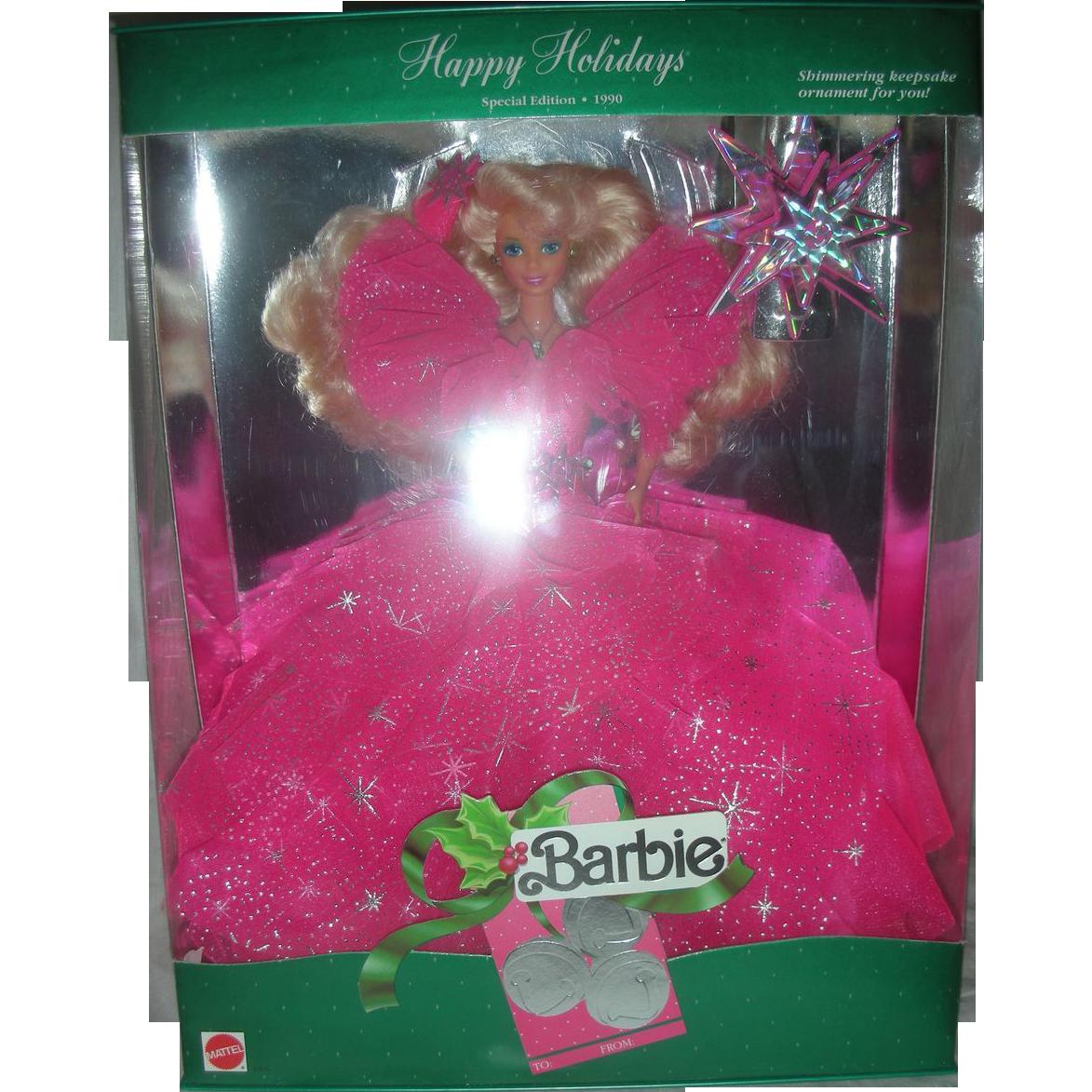 Vintage Happy Holiday Barbie Doll 1990 NRFB
