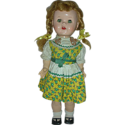Vintage IDeal Saucy Walker Doll 15 inch Small size