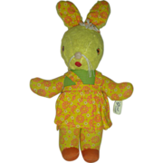 Vintage Gund Stuffed Easter Rabbit Toy Mid Century