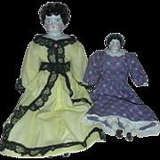 Mid Century China Head Dolls