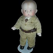 Effanbee Bisque Skippy Army Doll