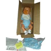 Anatomically Correct Boy Baby Doll in Box Molded Head