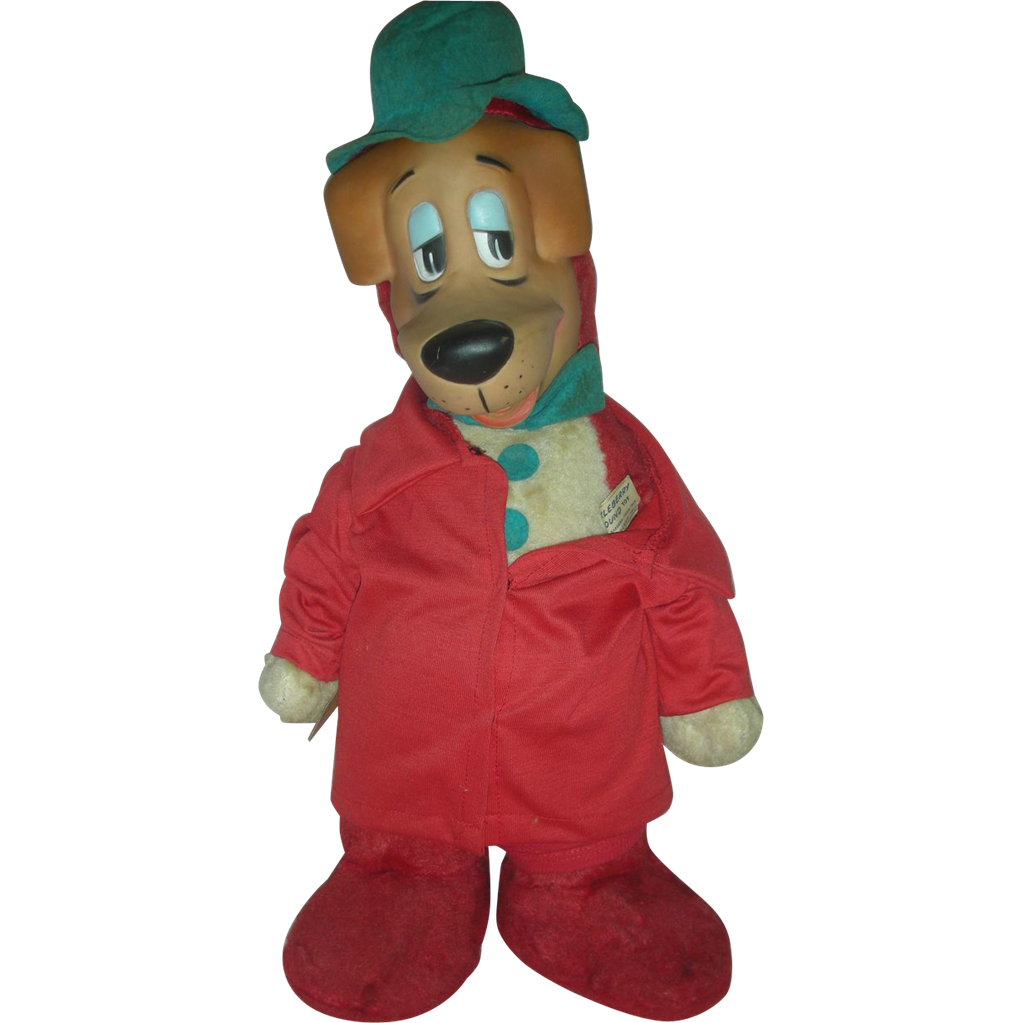 Vintage Huckleberry Hound Friend of Yogi Bear Rubber Face Toy Hanna Barbera Knickerbocker 1959