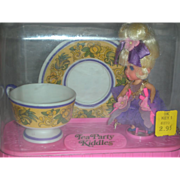 Vintage Liddle Kiddles Lady Lavender Doll Tea Paty Set by Mattel