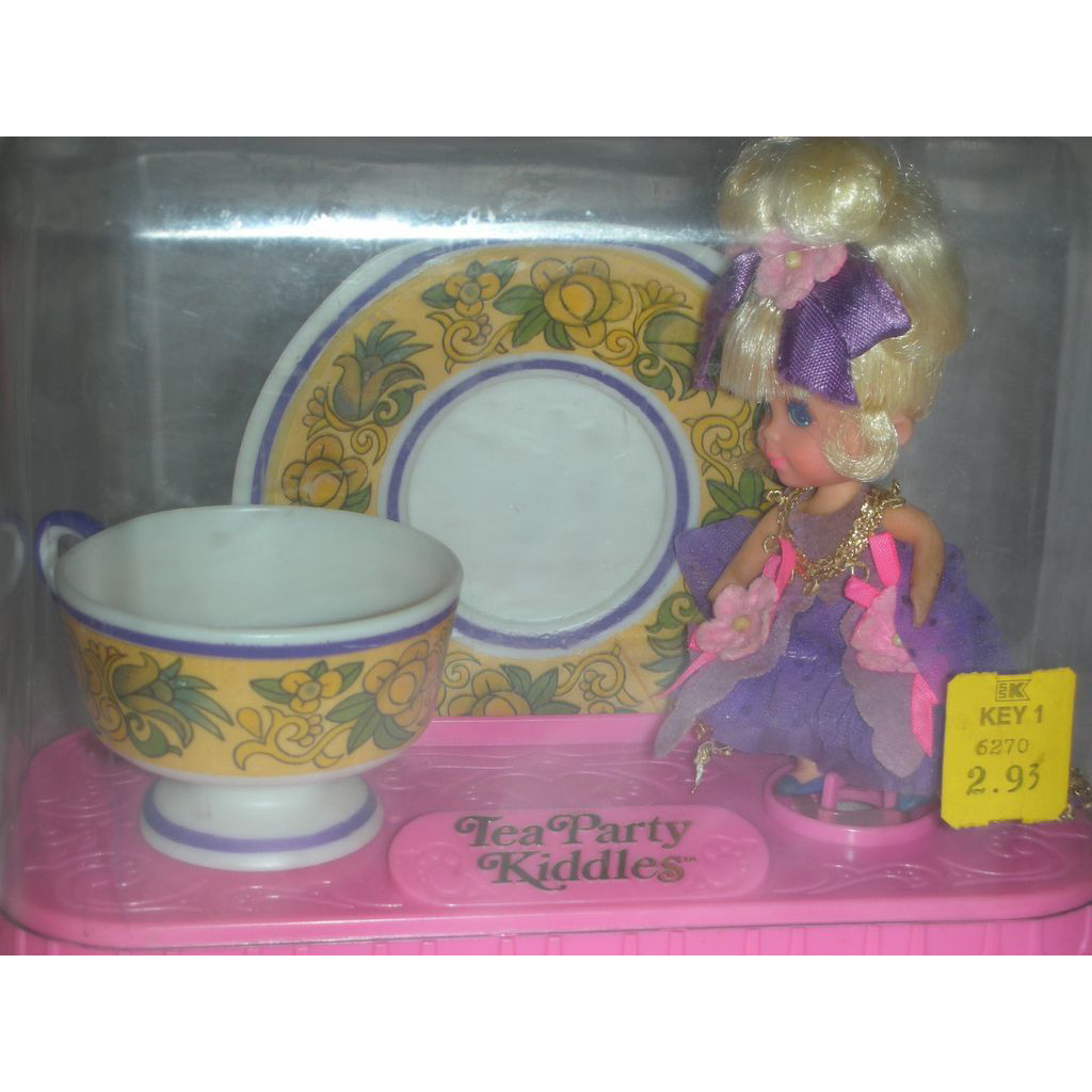 Vintage Liddle Kiddles Lady Lavender Doll Tea Paty Set by Mattel