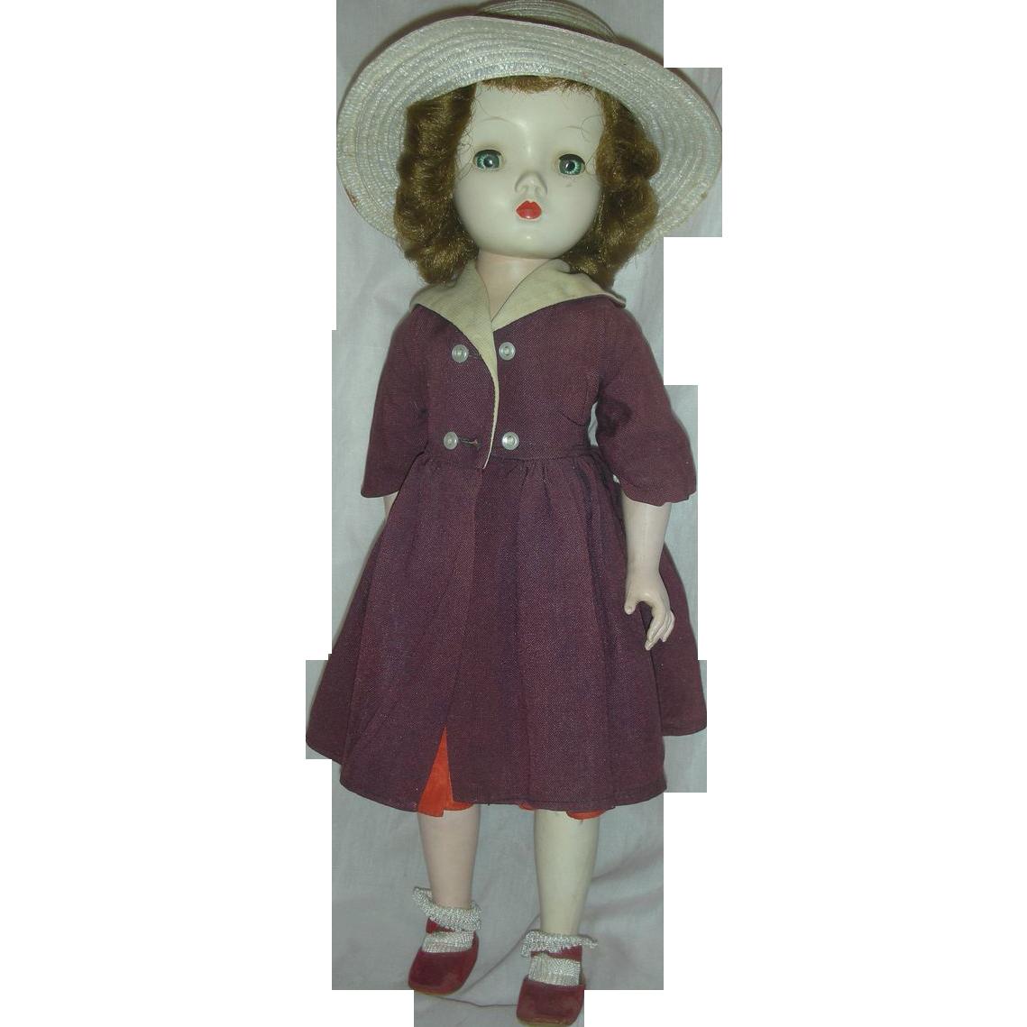 Vintage Madame Alexander Winnie Walker Hard Plastic Doll 1953