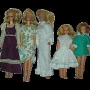 Lot of Vintage Mod Era Barbie and Skipper Dolls