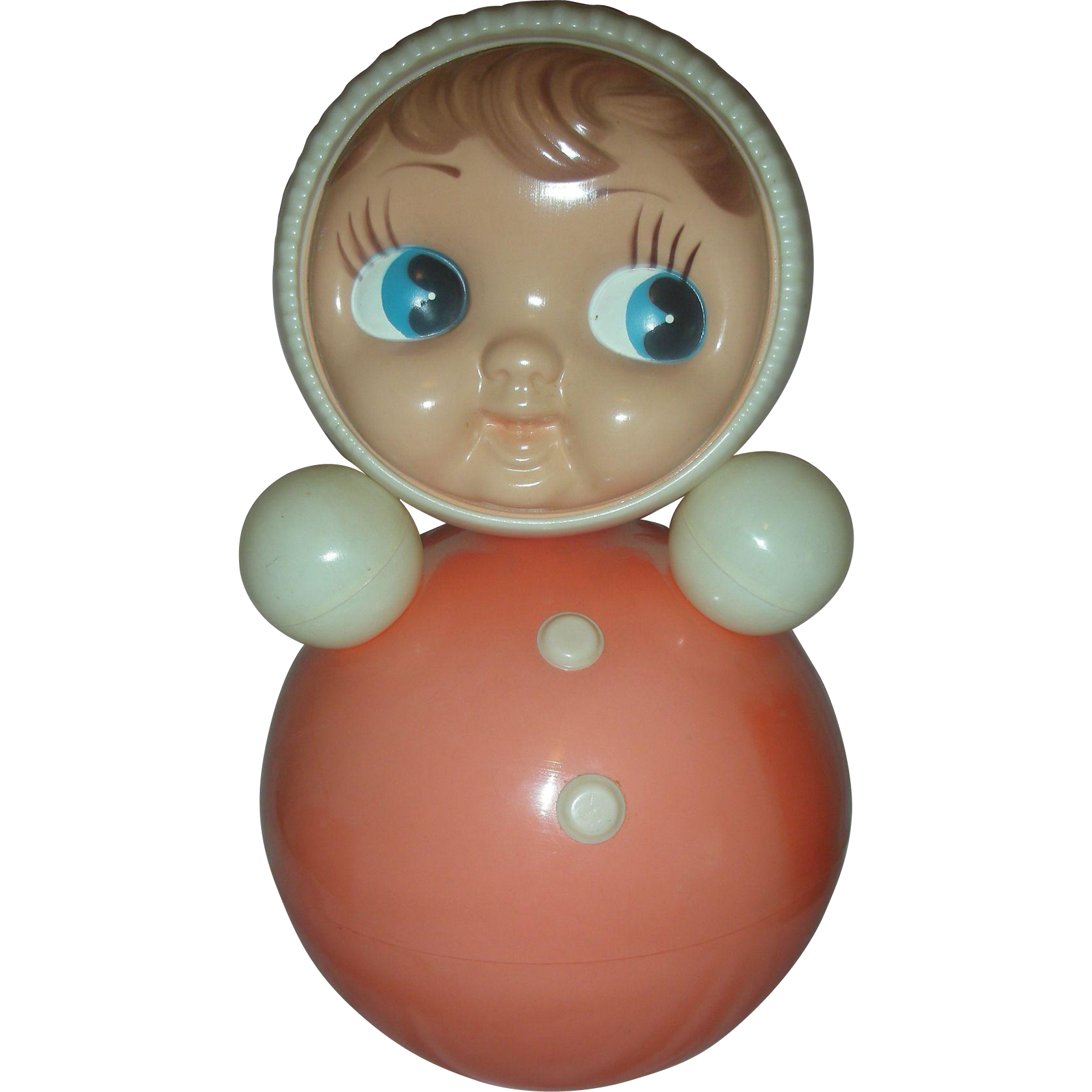 Vintage Large 16 inch Roly Poly Musical Doll USSR Nevalyashka Matrioshka Celluloid Toy