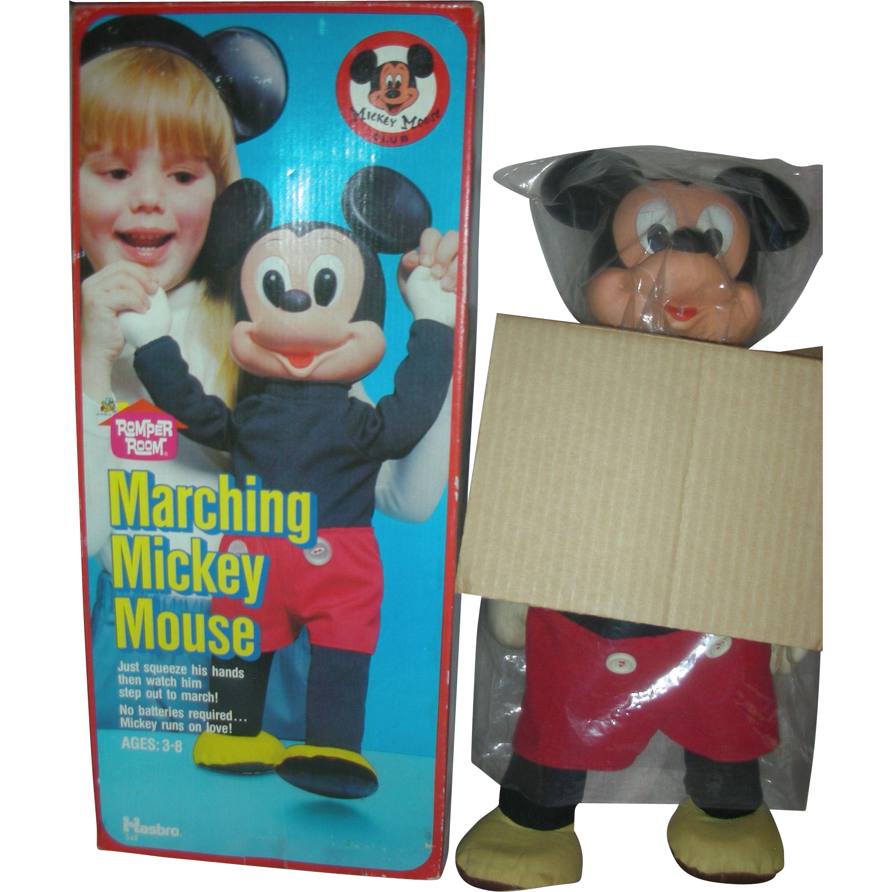 Vintage Marching Mickey Mouse Club Toy by Hasbro in Box