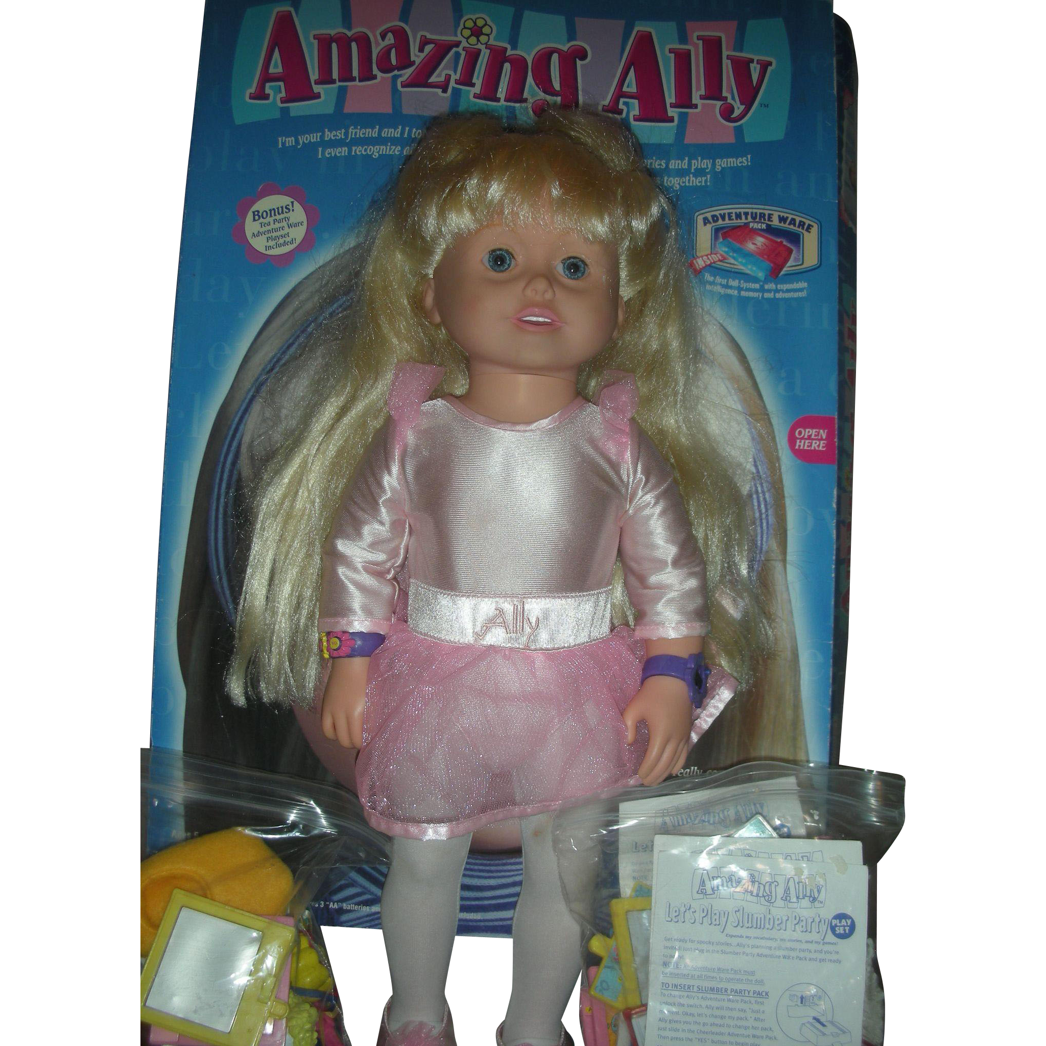 Vintage Amazing Ally Interactive Doll by Playmates with Accessories