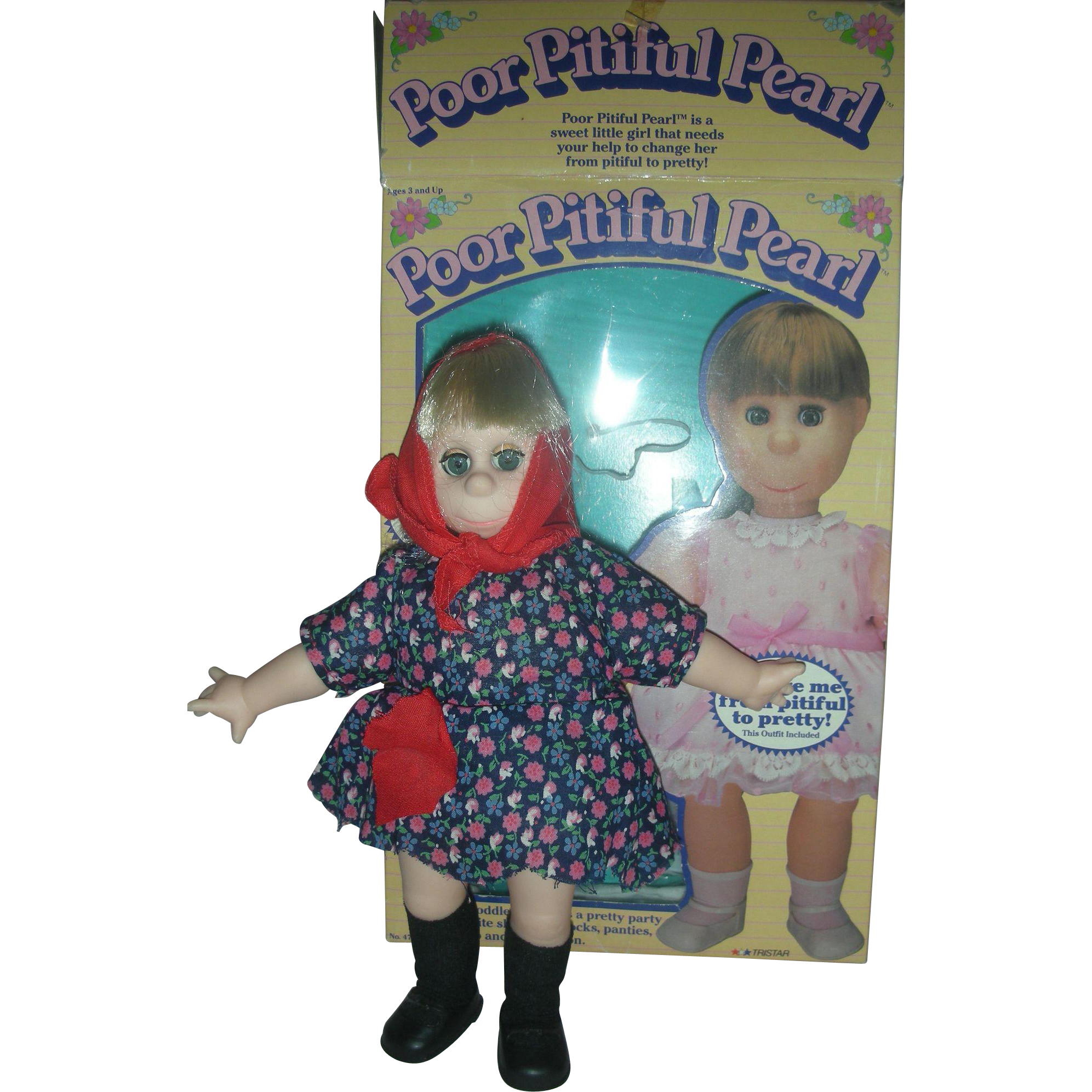 Vintage Poor Pitiful Pearl Doll with Accessories and Box