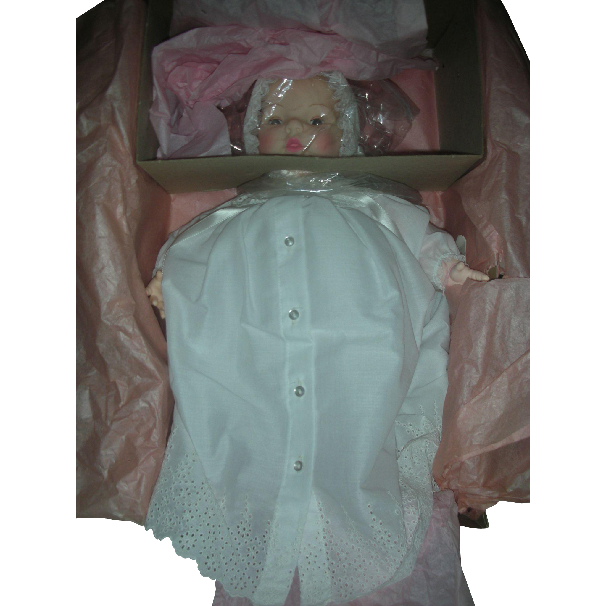 Vintage Madame Alexander Baby Victoria Doll NRFB wearing Gown