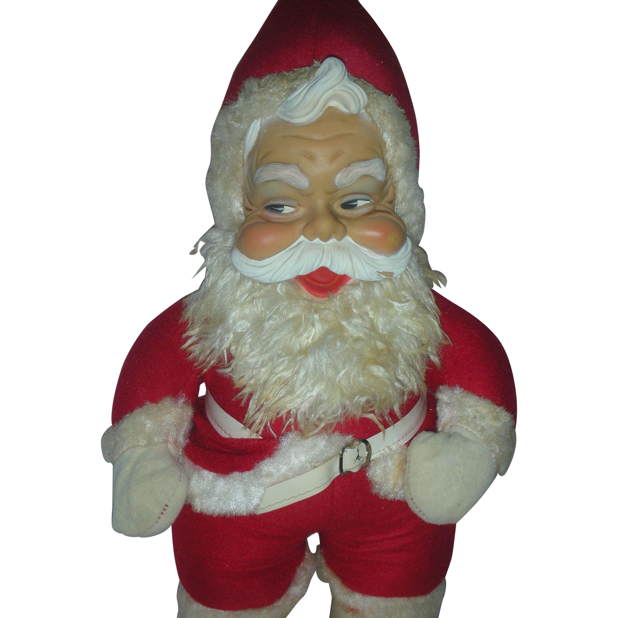 Vintage Rushton Rubber Face Toy Santa Claus