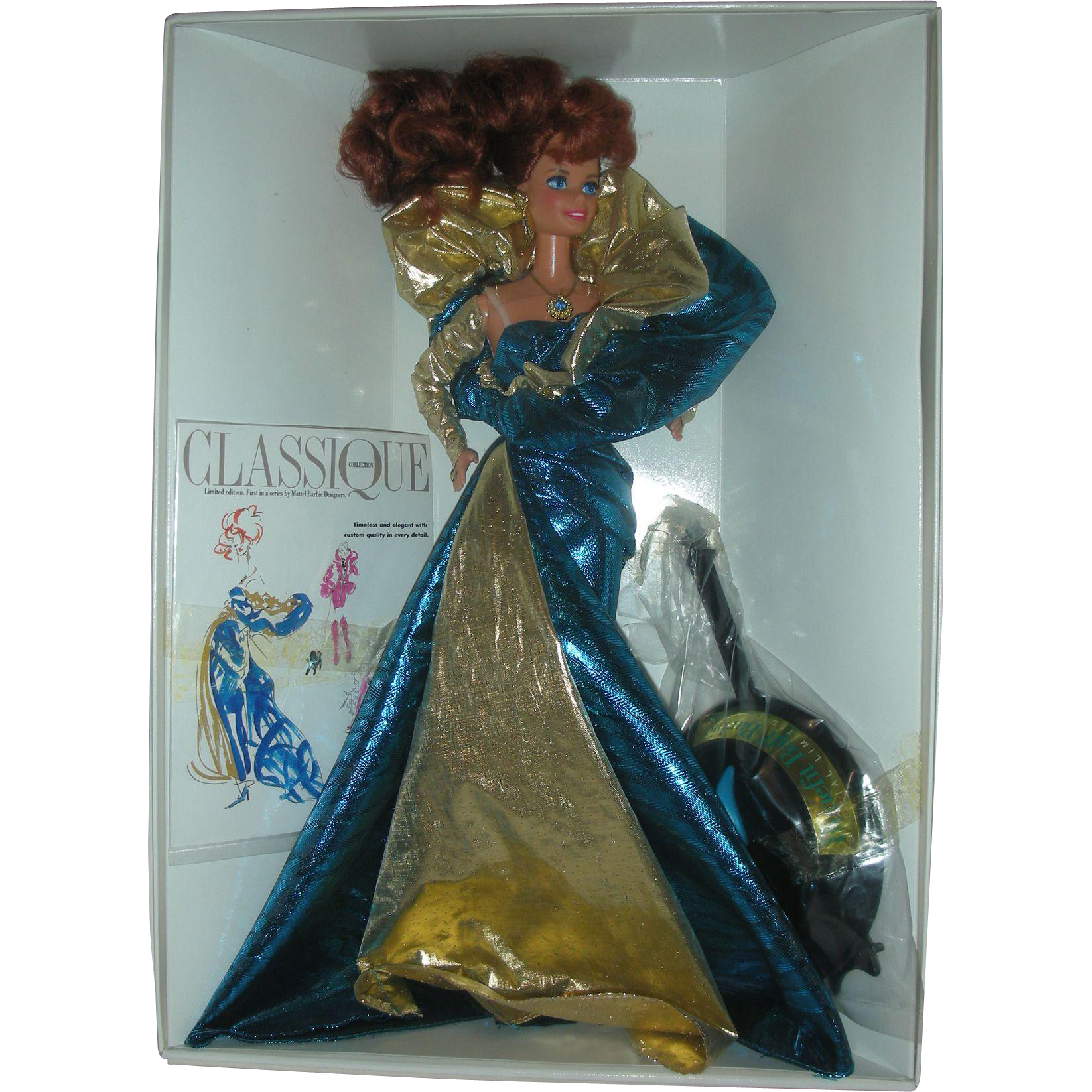 Vintage NRFB Benefit Ball Barbie Doll Classique Collection