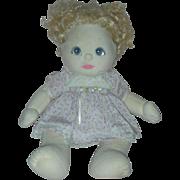 Vintage Mattel 1980s Cloth My Child Doll Blonde Hair