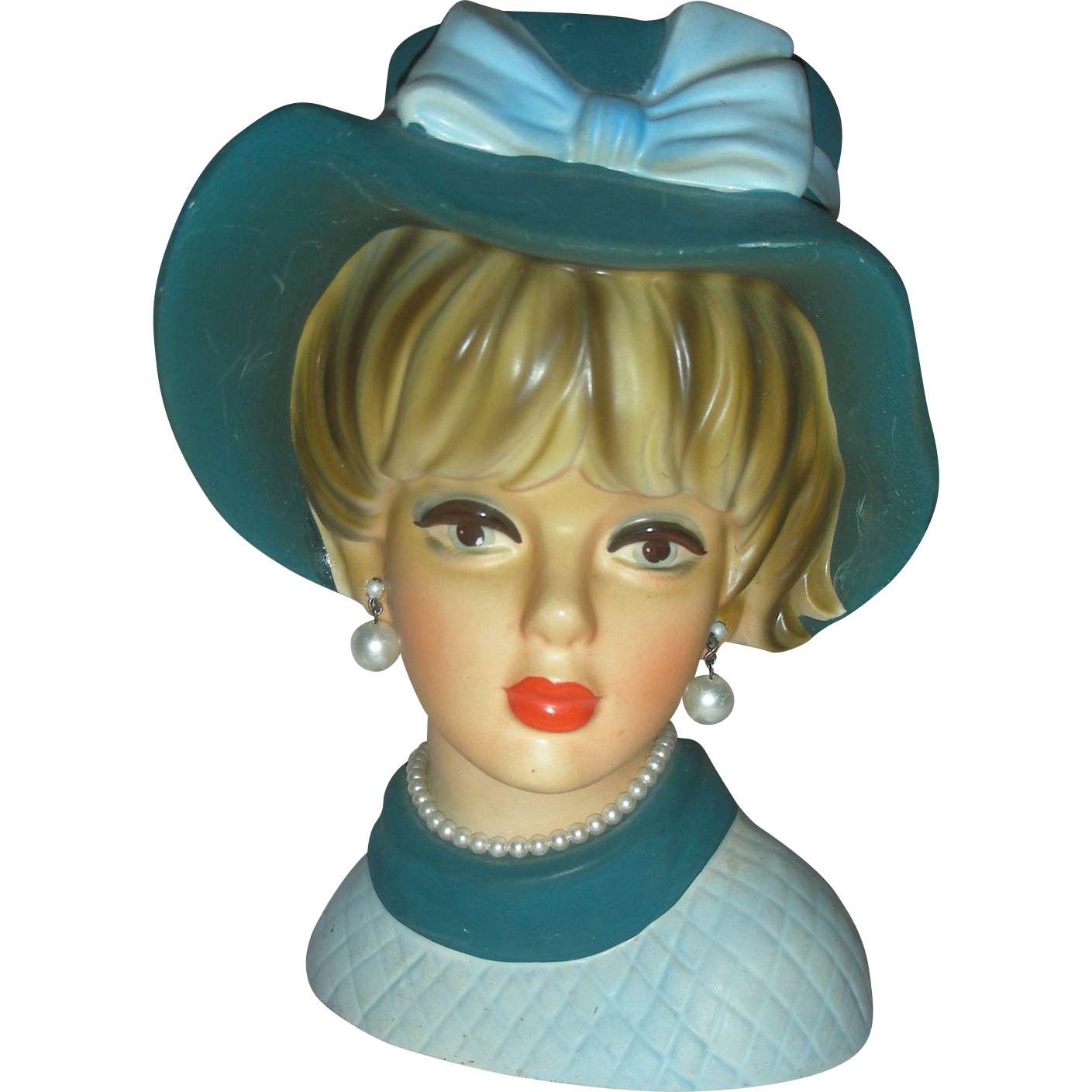 Vintage Lady Headvase 8.5 inch Planter Head Vase Napco
