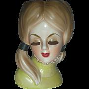 Vintage Teenage Lady Headvase Doll Rubens Head Vase