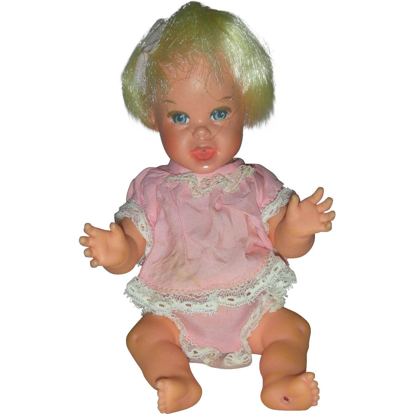 Vintage Mattel 7 inch Cheerful Tearful Baby Doll 1960s