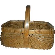 Primitive Appalachian KY Oak Split Gathering Basket