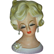 Vintage Parma Lady Head Vase Headvase Planter
