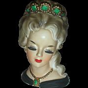 Vintage Inarco Lady Aileen Headvase Head Vase