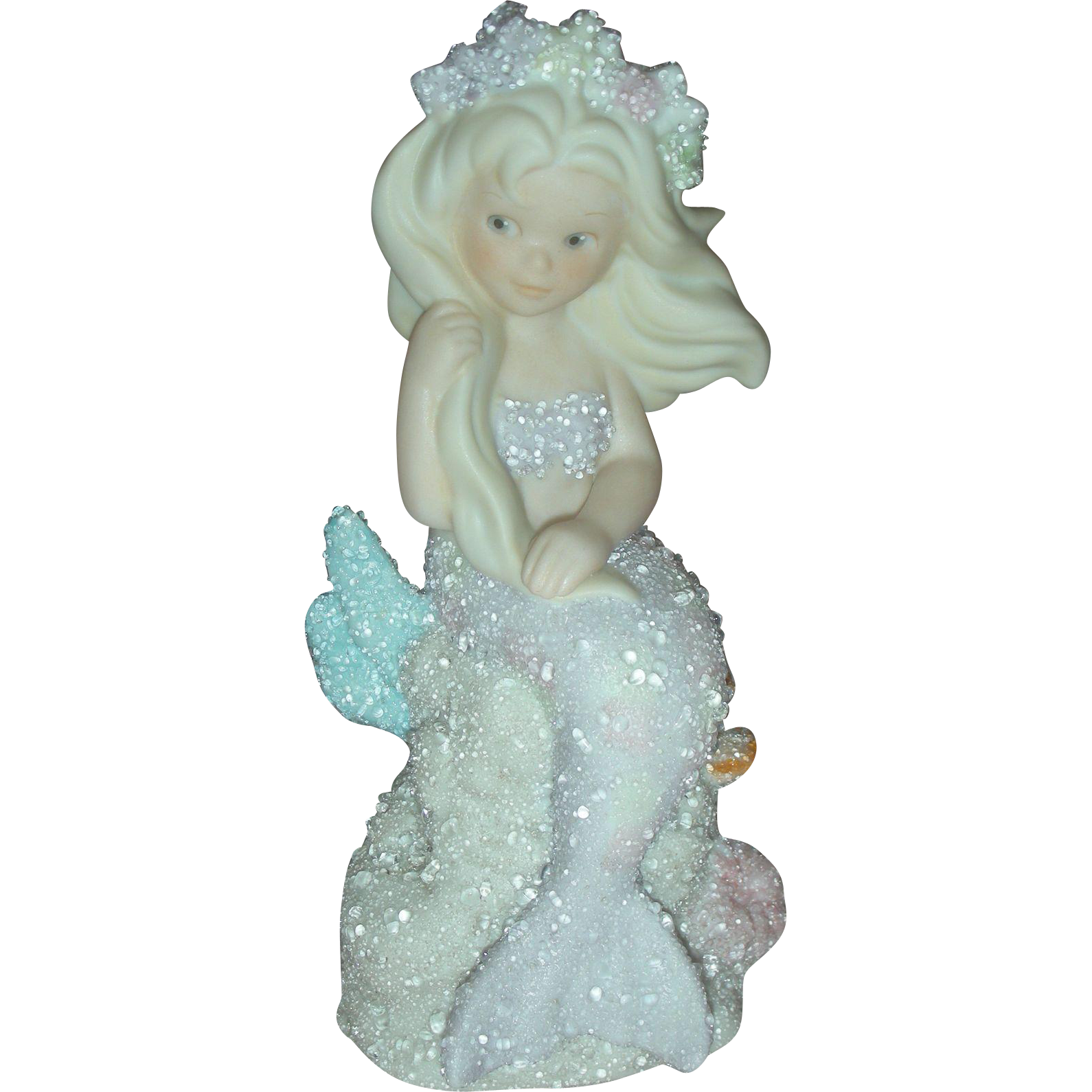 Vintage Enesco Coral Kingdom Athena Mermaid Figurine