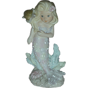 Vintage Enesco Coral Kingdom Sabrina Mermaid Figurine