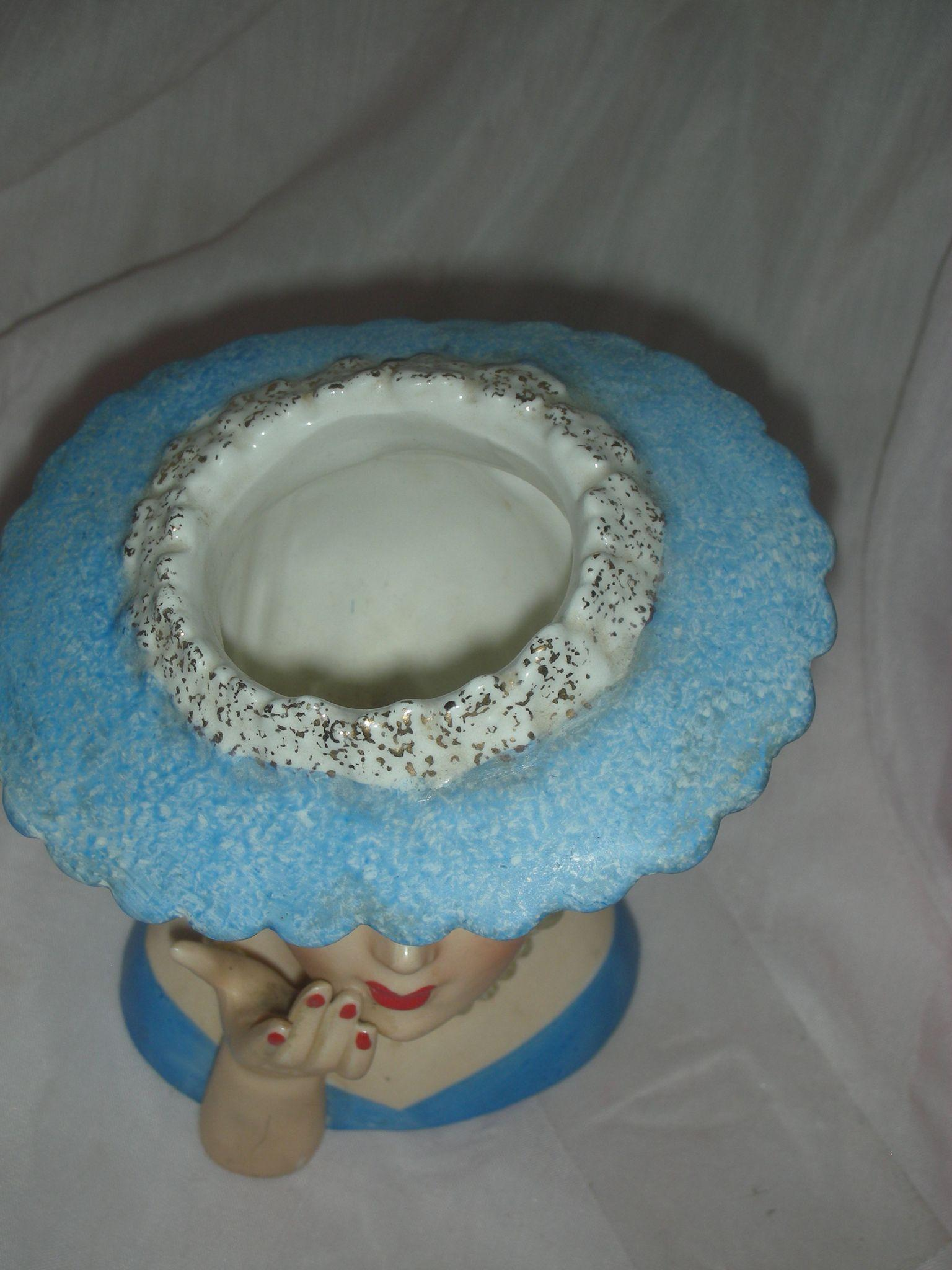 Vintage Napco 1958 Head Vase Planter Lady Headvase From