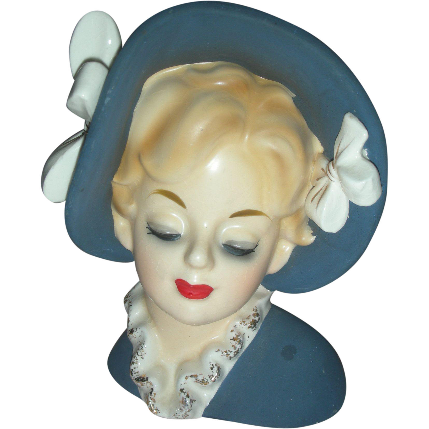 Beautiful Vintage Lady Headvase Head Vase Planter