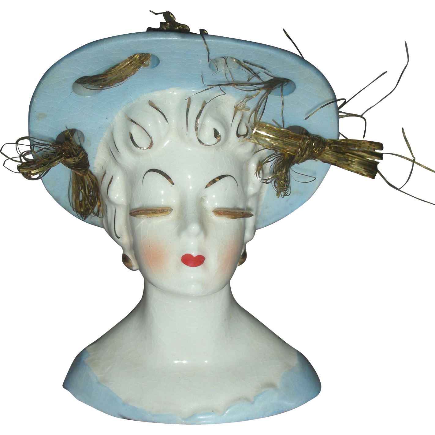 Beautiful Lady Head Vase Planter