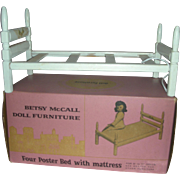 Vintage Betsy McCall Doll Strombecker Bluebird Bed with Original Box